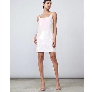 Allen Schwartz White Sequin Mini Dress